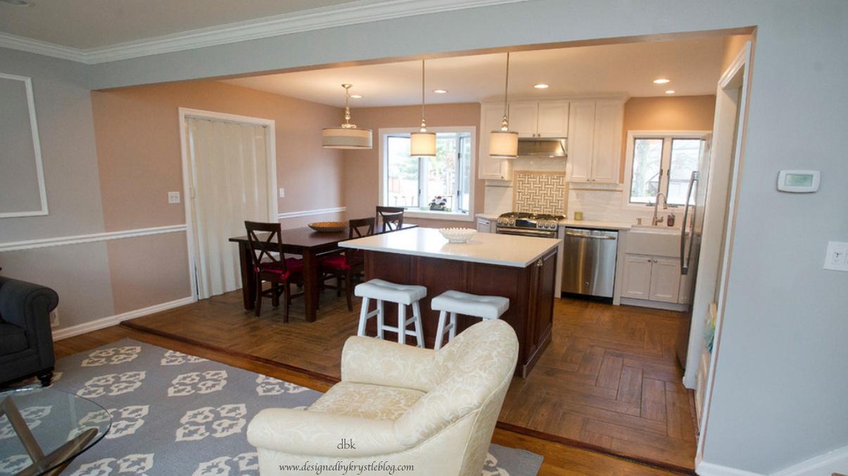 White Open Kitchen Reveal Designedbykrystleblog