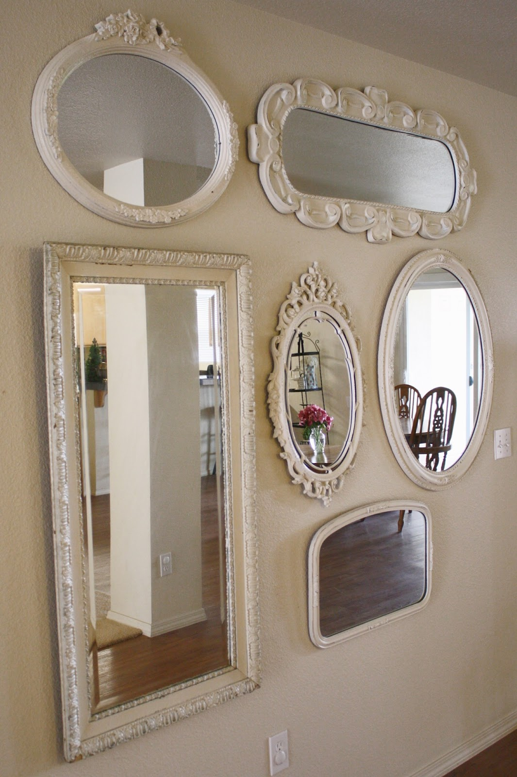 mirror gallery vintage white
