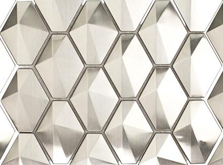 Terrapin silver metal tile