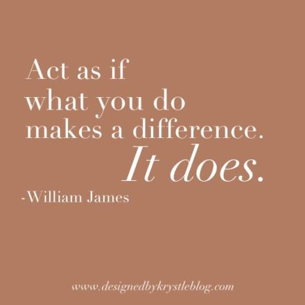 What You Do Makes A Difference William James Quote Motivation