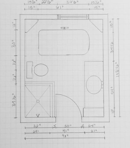 Farmhouse Bath Floor Plans