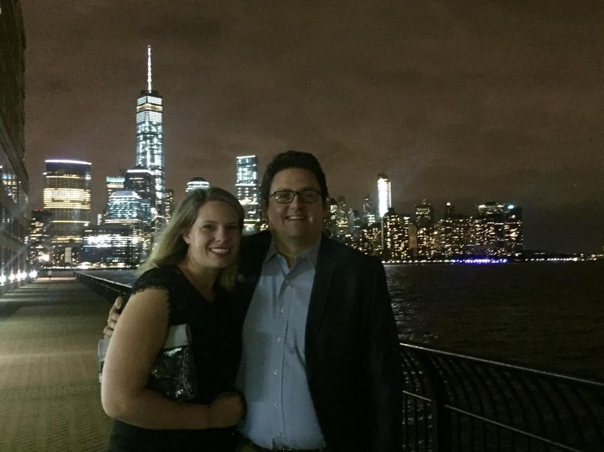 First Anniversary Date at Jersey City Waterfront