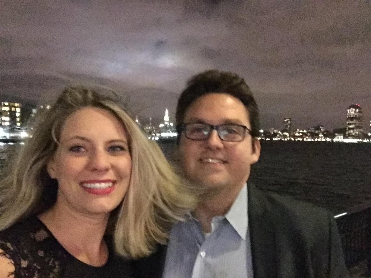 First Anniversary Date at windy Jersey City Waterfront
