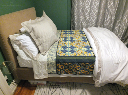 Fall Bedding with White Sheets Quilted Layers and Neutrals