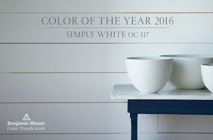 Benjamin Moore 2016 Color of the Year 2016 Simply White OC-117