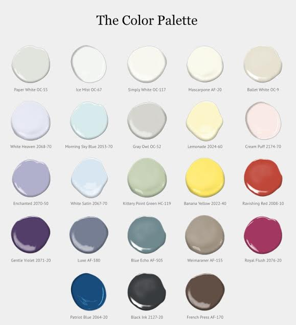 Benjamin Moore Color Palette Color of the Year 2016 Simply white