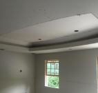Renovation construction bedroom tray ceiling