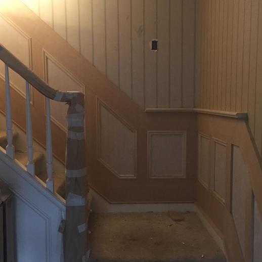 Mouldings moldings stairway entryway box trim custom millwork
