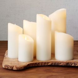 Candlesticks, Taper Candles, White, Unscented, Centerpiece, Tablescape, Candlelight, Flameless Candles