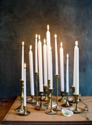 Candlesticks, Taper Candles, White, Unscented, Centerpiece, Tablescape, Candlelight