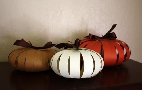 Paper Pumpkins, DIY Thanksgiving Decor, Decorations Handmade
