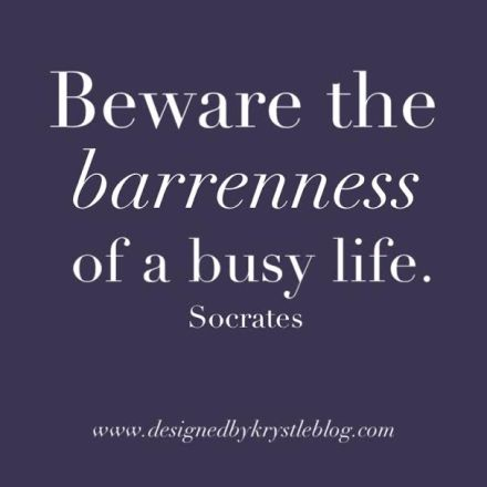 quote, words, dbkwords, beware the barrenness of a busy life, socrates,