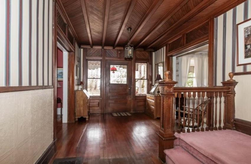 1893 House, Real Estate Photography, Molding, Woodworking, Ceiling, Herringbone, Wood Trim, Wood Edging, Wood Details, Entryway, Grand Entrance