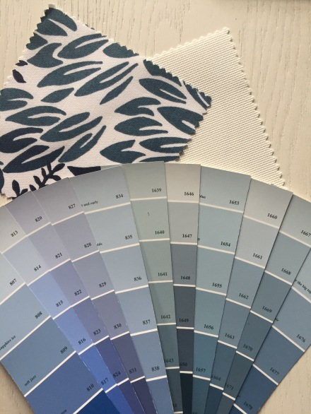 Best Benjamin Moore Blues, Benjamin Moore Paint, Best Blue Paints,  Blue Color Scheme,  Classic Blue  and white, white painted wood, window treatment, swatches, color schemes,