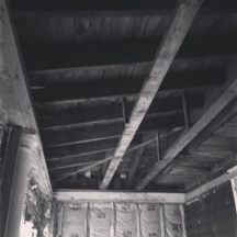 Vaulted ceiling, Exposed Beam, Construction, Renovation, Work in Progress, Construction Site, Old Home, This Old Renovation, Renovation, 1893 Construction, Sun Porch, three season room,