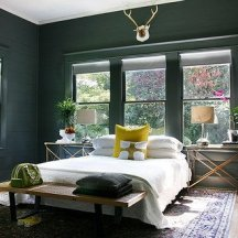 Wall and Trim Painted, Painted Wall and trim color, Uniform Wall and Trim Color, Wall and Trim painted the same color, crown molding painted same color as walls, molding painted same color as walls, moulding painted same color as walls, dark teal, deep bedroom color, dark bedroom paint, paint, dark paint,