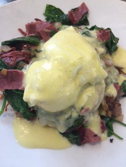 Gluten Free, Vacation Eats, Brunch, Corned Beef Benedict, Eggs Benedict, Boon Fly Cafe, Napa Eats, Brunch in Napa, Breakfast in Napa
