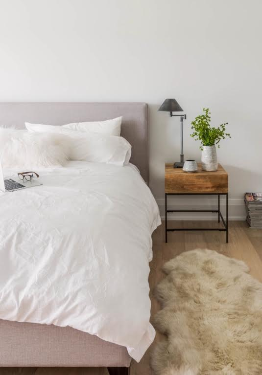 Bedroom Inspiration, Compact Living, Small Space, Small Space Design, Bedroom Inspo, Small Space Inspo, Modern Bedroom, Contemporary Bedroom, White and Gray, White and Grey